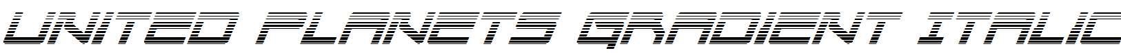 United-Planets-Gradient-Italic