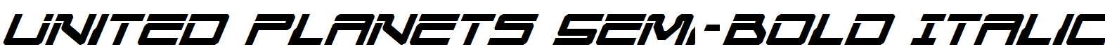 United-Planets-Semi-Bold-Italic
