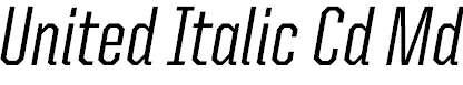 UnitedItalicCond-Medium