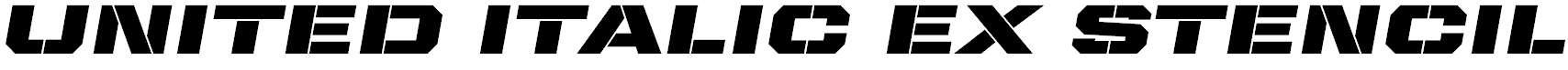 UnitedItalicExt-Stencil