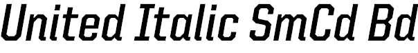 UnitedItalicSemiCond-Bold