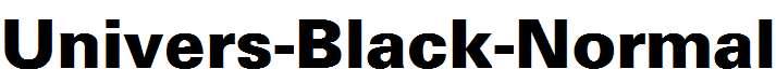 Univers-Black-Normal
