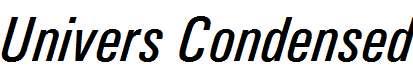 Univers-Condensed-Italic