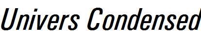 Univers-Condensed-Medium-Italic