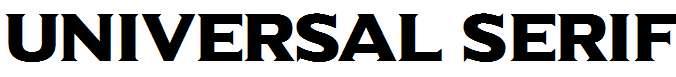 Universal-Serif
