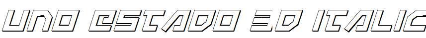 Uno-Estado-3D-Italic