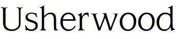 Usherwood-Regular