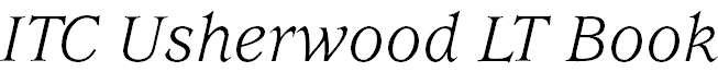 UsherwoodLT-BookItalic