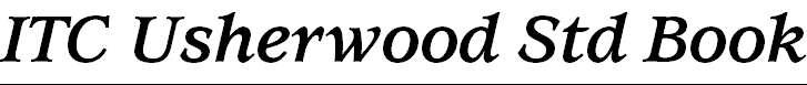 UsherwoodStd-BoldItalic