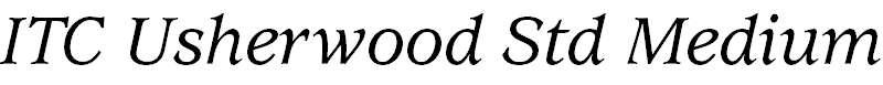 UsherwoodStd-MediumItalic