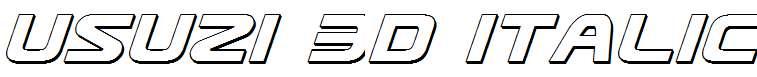 Usuzi-3D-Italic