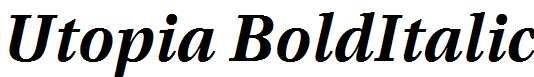 Utopia-Bold-Italic