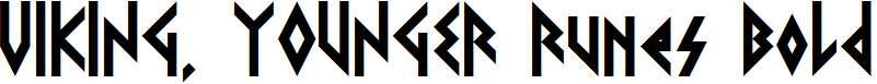 VIKING-YOUNGER-Runes-Bold-Regular