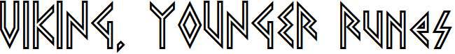 VIKING-YOUNGER-Runes-Regular