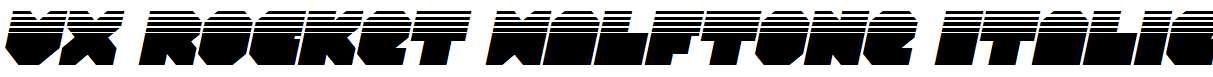 VX-Rocket-Halftone-Italic