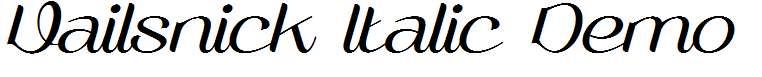 Vailsnick-Italic-Demo-