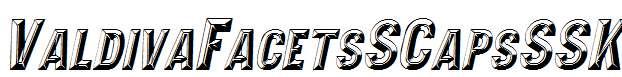 ValdivaFacetsSCapsSSK-Italic
