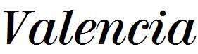 Valencia-Bold-Italic