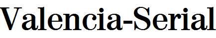 Valencia-Serial-Bold