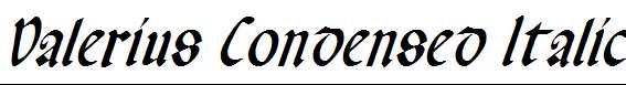 Valerius-Condensed-Italic