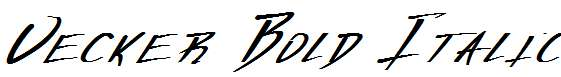 Vecker-Bold-Italic