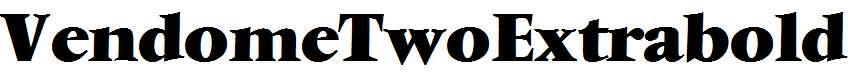 VendomeTwoExtrabold-Regular