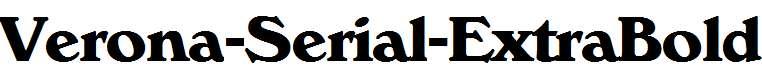 Verona-Serial-ExtraBold-Regular