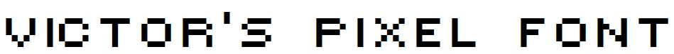 Victor-s-Pixel-Font