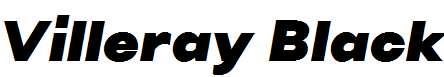 Villeray-Black-Italic