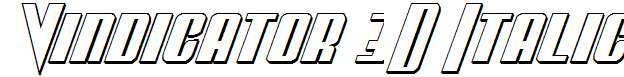 Vindicator-3D-Italic
