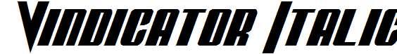 Vindicator-Italic