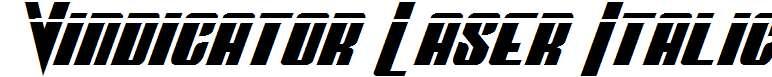Vindicator-Laser-Italic
