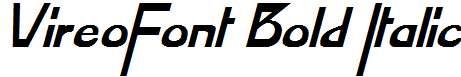 VireoFont-Bold-Italic