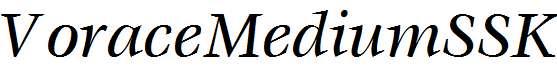 VoraceMediumSSK-Italic