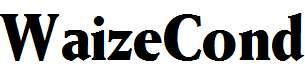 WaizeCond-Bold