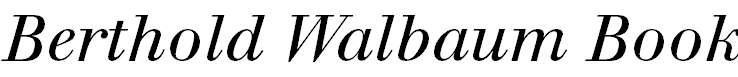 WalbaumBook-Italic