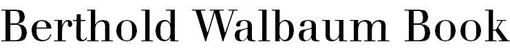 WalbaumBook-Regular