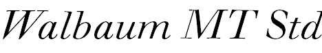 WalbaumMTStd-Italic