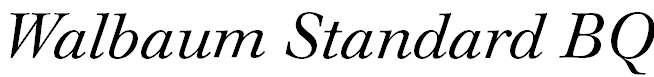 WalbaumStandardBQ-Italic