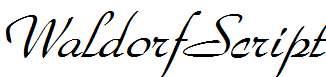 WaldorfScript-Italic