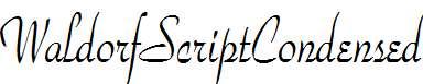 WaldorfScriptCondensed