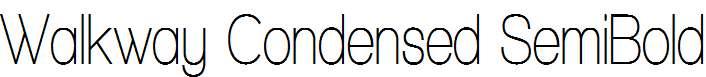 Walkway-Condensed-SemiBold