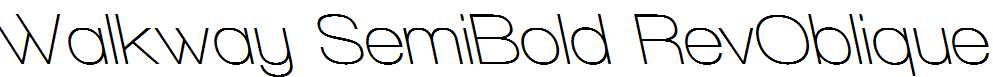 Walkway-SemiBold-RevOblique