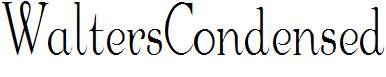 WaltersCondensed
