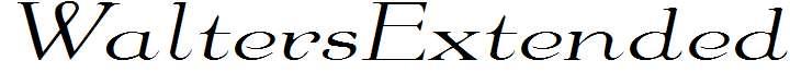 WaltersExtended-Italic