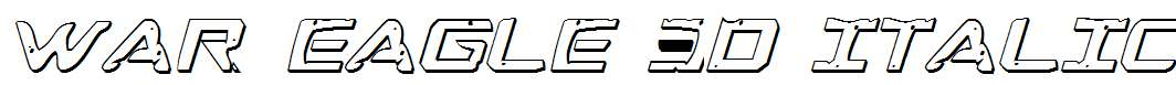 War-Eagle-3D-Italic
