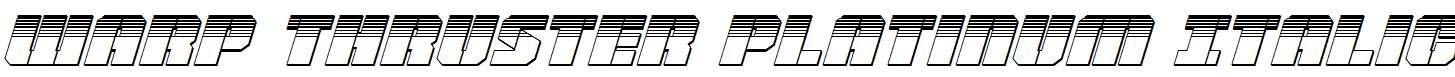 Warp-Thruster-Platinum-Italic