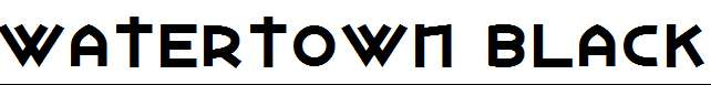 Watertown-Black