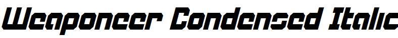 Weaponeer-Condensed-Italic