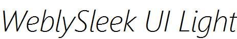 WeblySleek-UI-Light-Italic